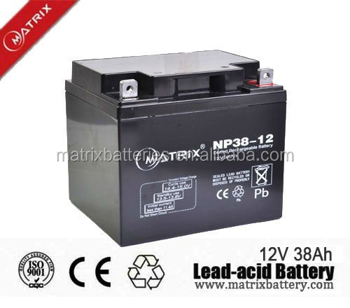 backup ups 12v 38ah battery supplier from China