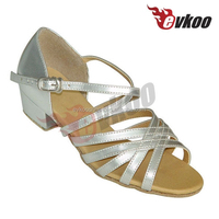 Kids high heel shoes Silver & Gold children latin dance shoes kids fashion high heel shoes