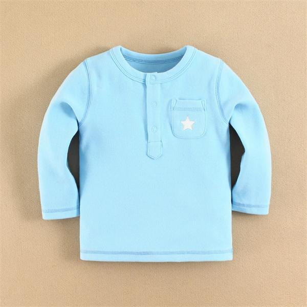 2015 baby clothes 100 cotton baby t -shirt plain lycra