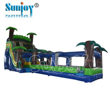 Commercial used adult giant inflatable water slide for sale, palm tree giant inflatable giant inflatable water slide for adult