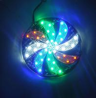 Fan Leaves 4 Colors Caution Strobe Flash Waterproof Circular Propeller Led Light