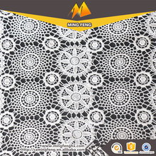 100 Polyester French Water Soluble Chemical Lace Fabric for Lady's Apparel