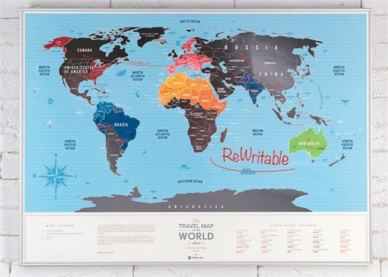 Scratchable Off World Map Large Places I've Been World Travel Map Great Scratchable World Map Gift For Any Traveller AMA-11