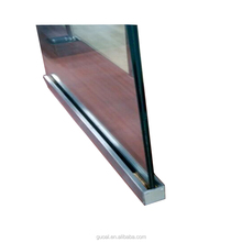 Top selling Australia U channel profiles laminated glass aluminum balustrade ,