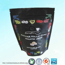 Stand Up Three-Side Sealed Ziplock Aluminum Foil Coffee Bag/Custom Printed Coffee Bag With Zipper/Coffee Bag With Coffee Design