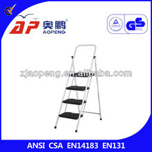 Matel Library 4 Step Ladders with Plastic Step