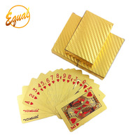 100 USD Dollar Euro printed poker 100% plastic playing card 24k gold plated playing card