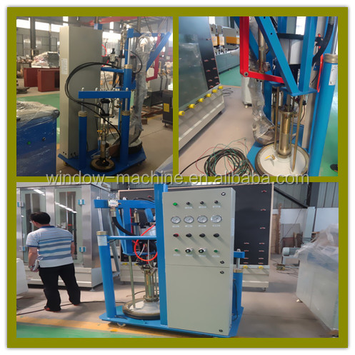 Two component coating machine / Double glass silicon glue spreading machine / Insulated glass make line