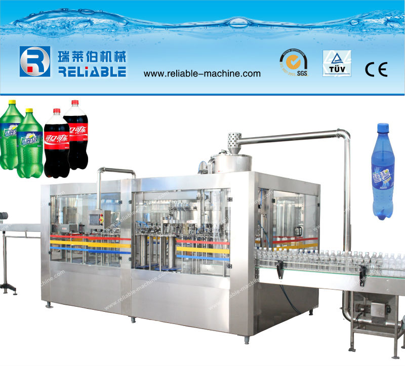 Bottled Caronated Water Filling Machine 3 in 1 Rotary Type