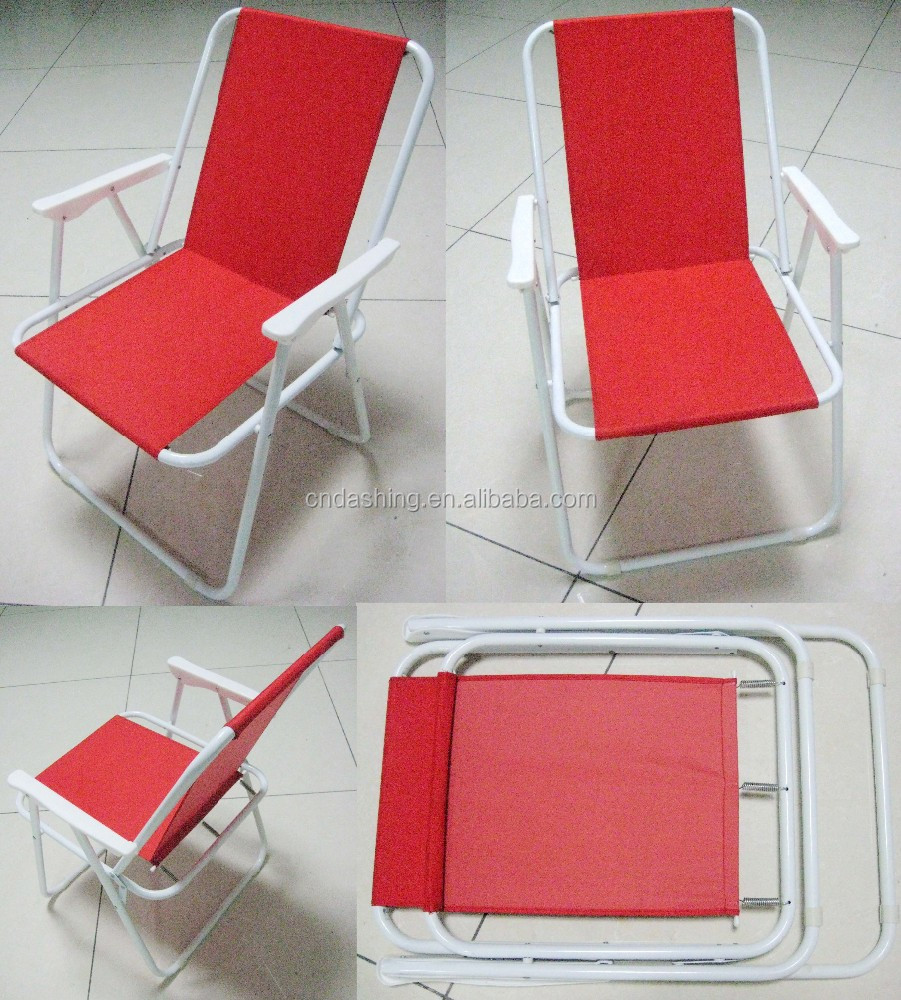 Hot Sale 75cm Low Back Spring Chair Contract Chair Folding Beach Chair