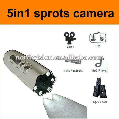 Hottest sale multifunction flashlight dv hd outdoor sports camera