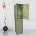 widely used iron almirah design steel 2 door clothing locker cabinet for university