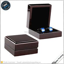 JBW281 Custom Lacquer Wooden Packaging Cufflink Gift box