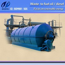 Tire Pyrolysis plant to get fine rubber powder, crude oil, Iron mesh- capacity 10mt daily.