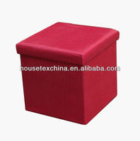 pink foldable storage chair/ottoman