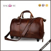 best selling leather bag luggage travel bag for men
