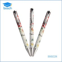 Beautiful design quality metal pen with clip ballpoint pen with logo