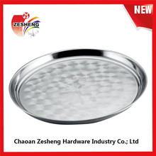 Anti Slip 25 to 80 Cm Stainless Steel Round Tray