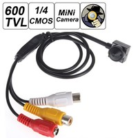 "Smallest Mini 600TVL 500MP 1/4"" HD Sensor Cone Pinhole CCTV Camera Hidden Covert Cam Security Video Surveillance"