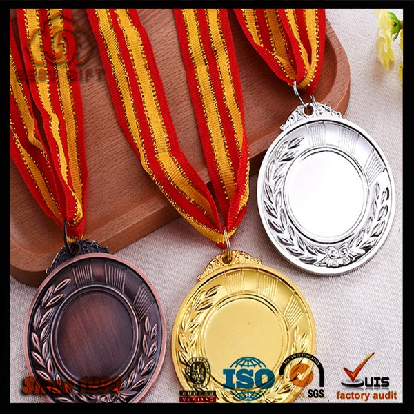 Manufacturer Custom Copper, Sliver, Gold Award Metal running Medal