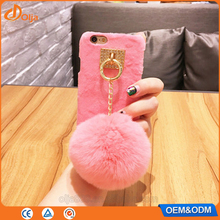 Faux fur fabric case for xiaomi redmi 3s prime 2017 trending products for iphone 7 case tpu