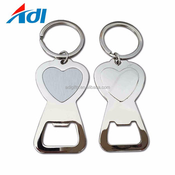 wholesales custom engraved blank key chain with bottle opener for men