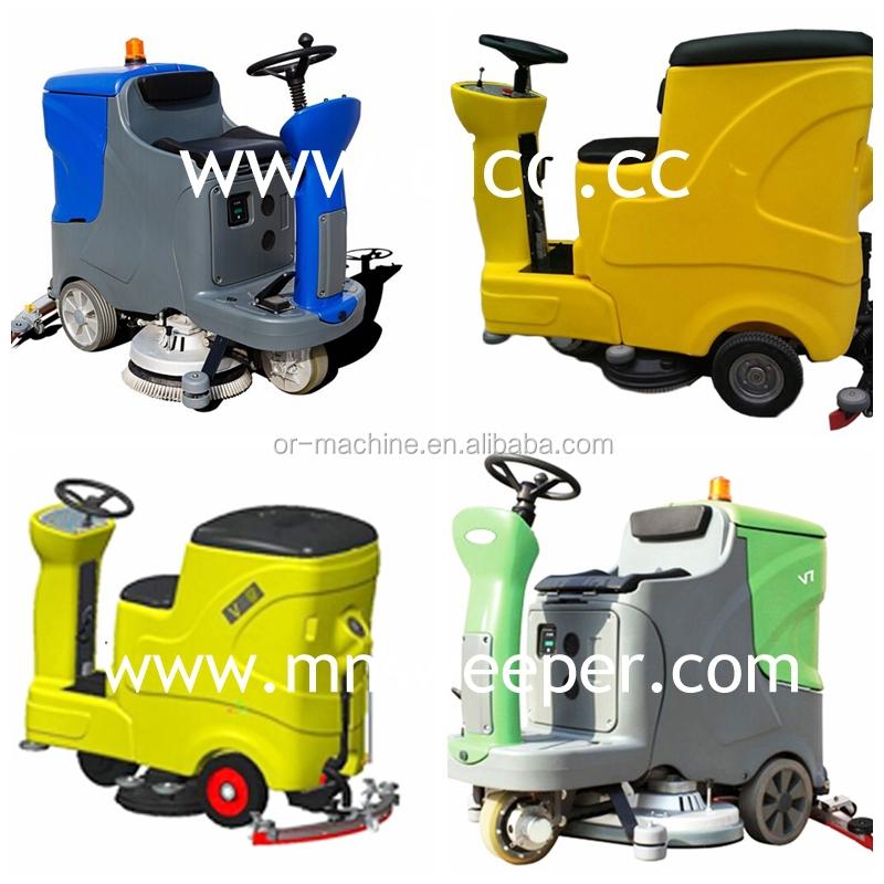 V7 concrete scrubber motor scrubber micro rider floor for Concrete floor scrubber