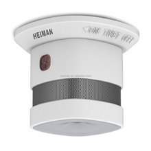 Heiman mini design 10 years battery operated smoke detector with EN 14604 approval