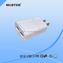 10W plug in dual usb travel wall charger for Us and Japan