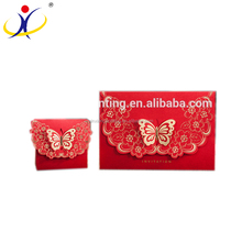 Chinese Style Butterfly Design Pocket Wedding Invitations Cards Wholesale