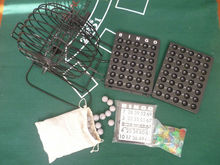 9 inch metal bingo game set/ 9 inch bingo cage