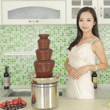 Wholesale Wedding Party Hotel Supplies Led Base Display Stand Large Stainless Steel Commercial Professional chocolate fountains