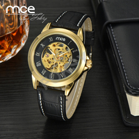 MCE branded Mens Luxury Automatic Watch genuine leather cheap Mechanical Watch 01-0060346