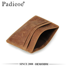 Padieoe PDA107 Crazy horse leather slim credit card case