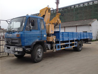 cheap price LHD dongfeng euro3 knuckle boom truck mounted crane 5 ton