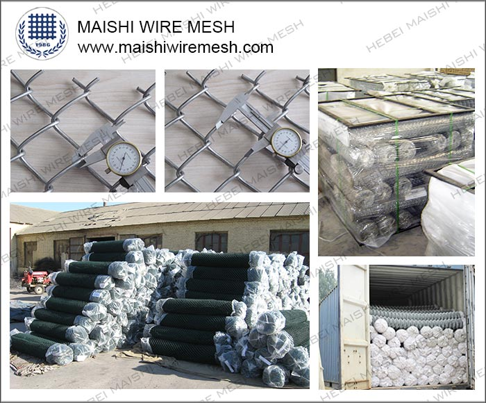 Chain link fence for security fencing (diamond wire mesh)