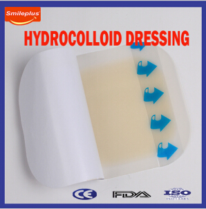 Professinal Manufacturer 5*5cm Hydrocolloid Wound Dressing for Hospital Care