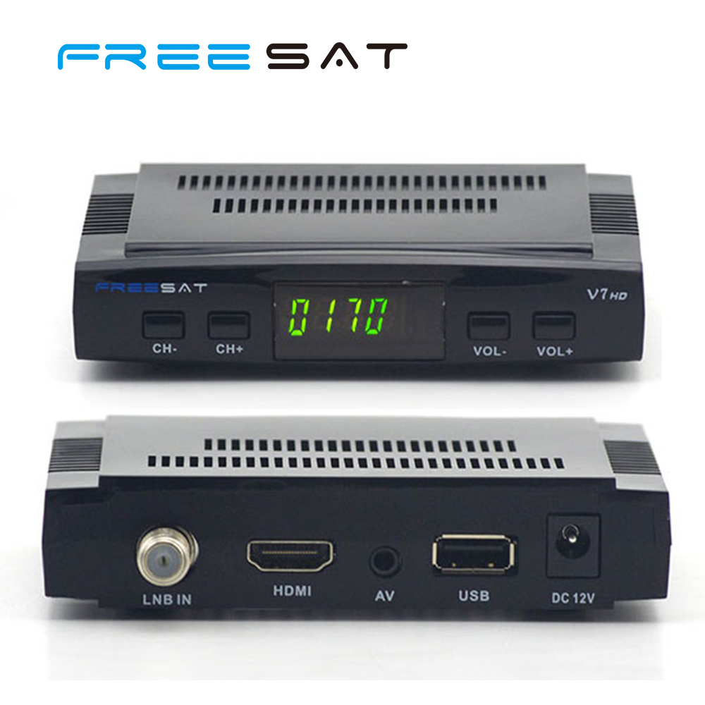 Hot selling Mini Freesat FTA V7 HD Digital Satellite Receiver DVB-S2 Set TV Box