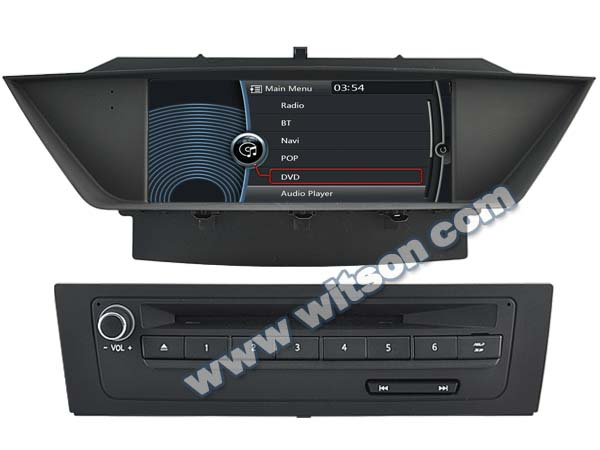 WITSON FOR BMW X1 car audio radio dvd gps WITH A8 CHIPSET DUAL CORE 1080P V-20 DISC WIFI 3G INTERNET DVR SUPPORT