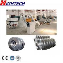 T44Q 5X600 metal sheet slitting machine or shearing slitter manufacturer steel sheet slitting line with decoiler and leveler
