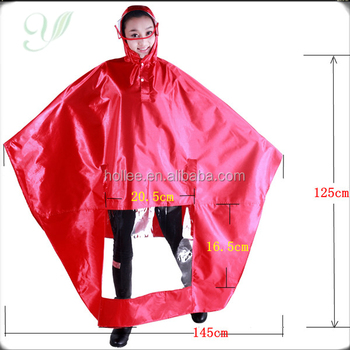 HL2904-A polyester with PVC coating bicycle raincoat for motorcycle riders