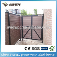 water proof and fire proof wood plastic composite wpc decorative garden fence price for sale