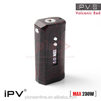 pioneer4you volcanic red iPV8 box mod ecig mod 26650 iPV Yaris iPV6X/iPV8 230w box mod