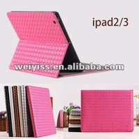 Hot sale fashion leather laptop case , leather stand case for ipad 2 / 3 / 4