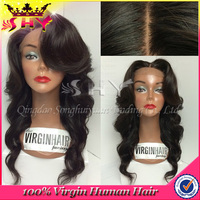 Factory direct cheap virgin human hair full lace wig with baby hair wholesale