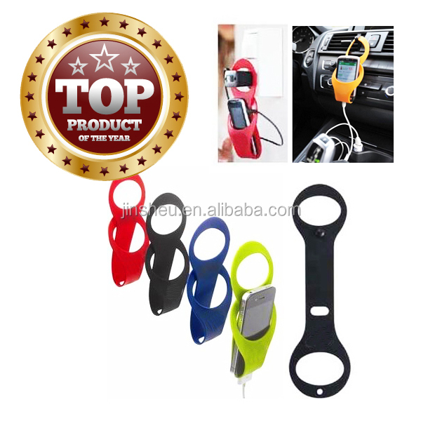 Multi-function silicone cell phone hanger inner china car accessory