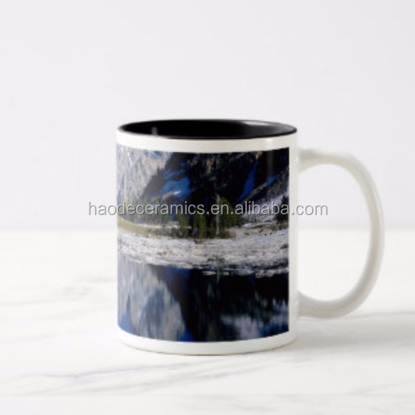 [ZIBO HAODE CERAMICS]Bulk items landscape print coffee cup ceramic customized design souvenir mug