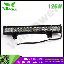 "New 126 watt 20"" 20 inch combo led light bar 120 volt led light bar offroad"