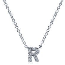 New cheap high quality silver and gold plated custom uppercase alphabet initial letter pendant necklace