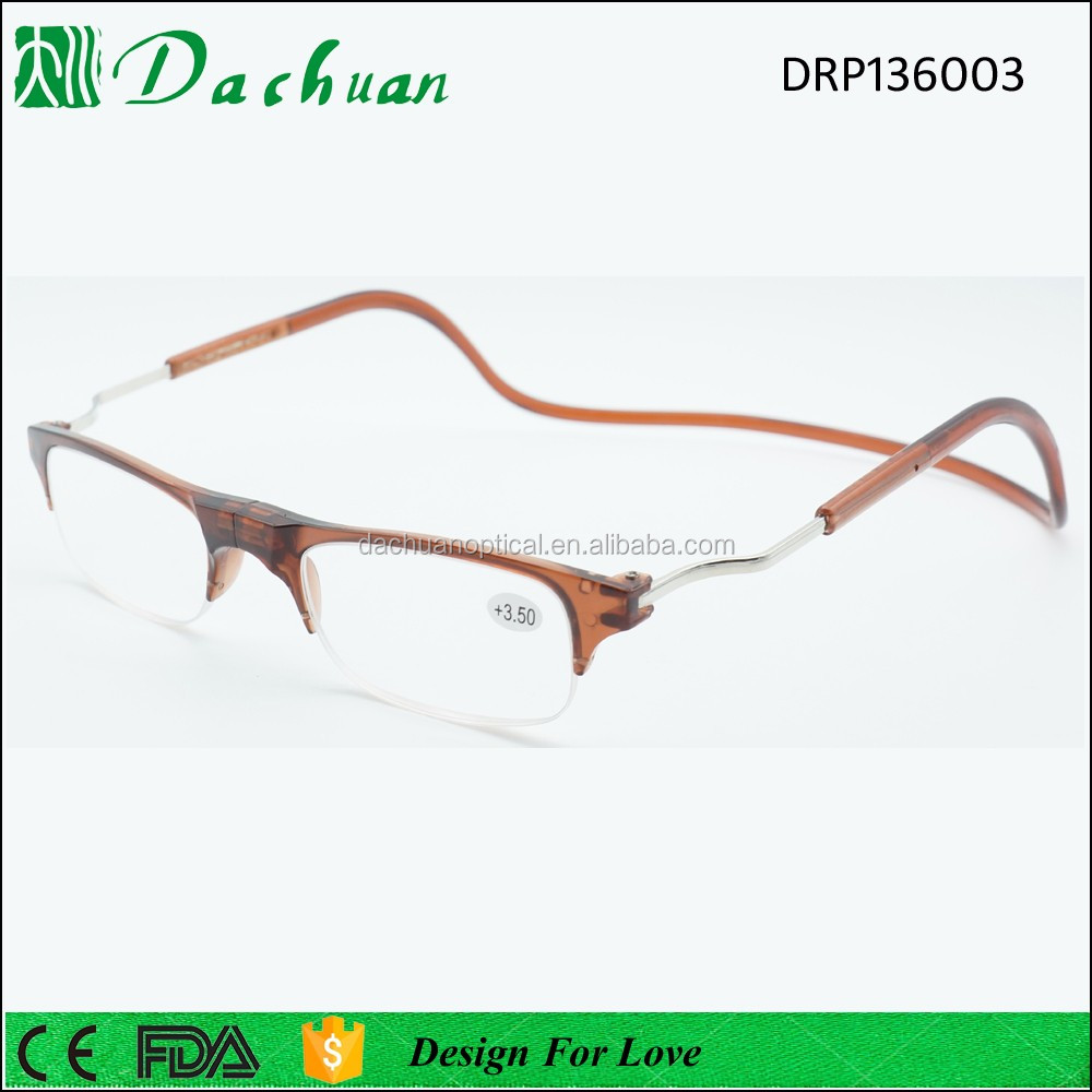 New polycarbonate plastic injection unbreakable reading glasses hang on neck